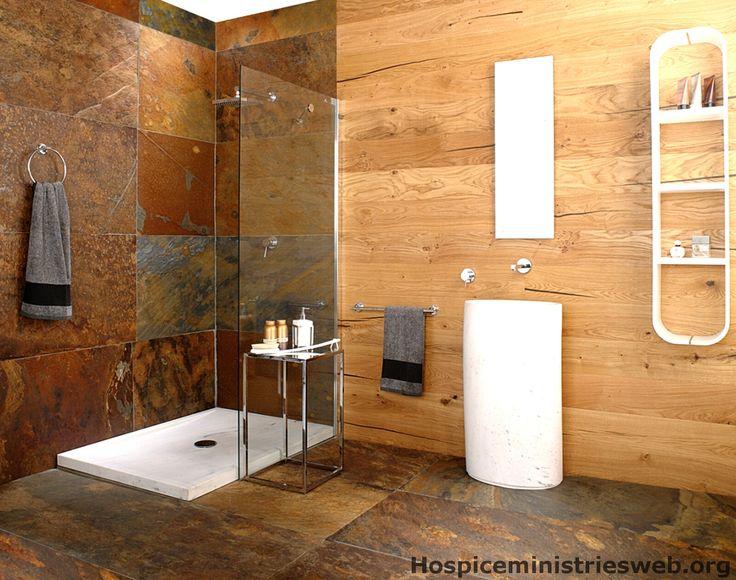 Badezimmer wandfarbe ~ Ebenerdige dusche mit glaswand in wei durch beleuchtung betont