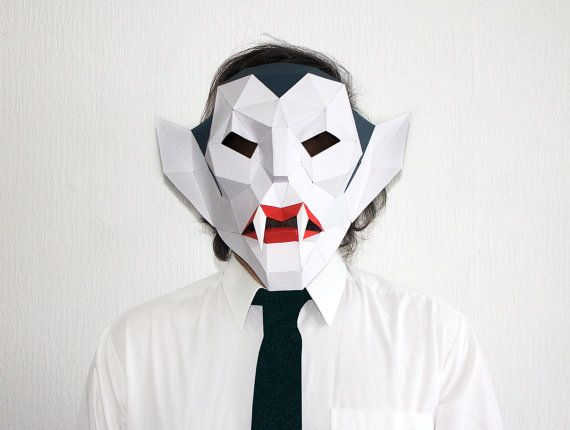 Make your own Vampire Mask Vampire Head by AwesomePatterns on Etsy
