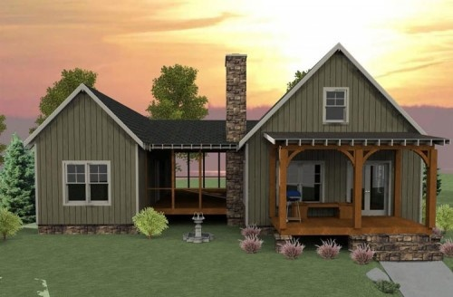 screened in area between the two buildingsSmall Cabin, Tiny House, Screens Porches, Dreams, House Ideas, Traditional Exterior, Dogs Trot, Screened Porches, House Plans