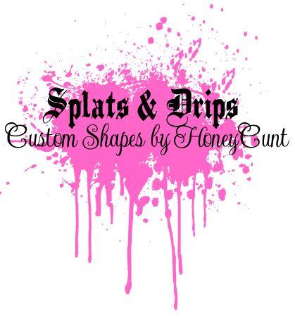 Splats N Drips_Custom Shapes by HoneyCunt.deviantart.com on @deviantART