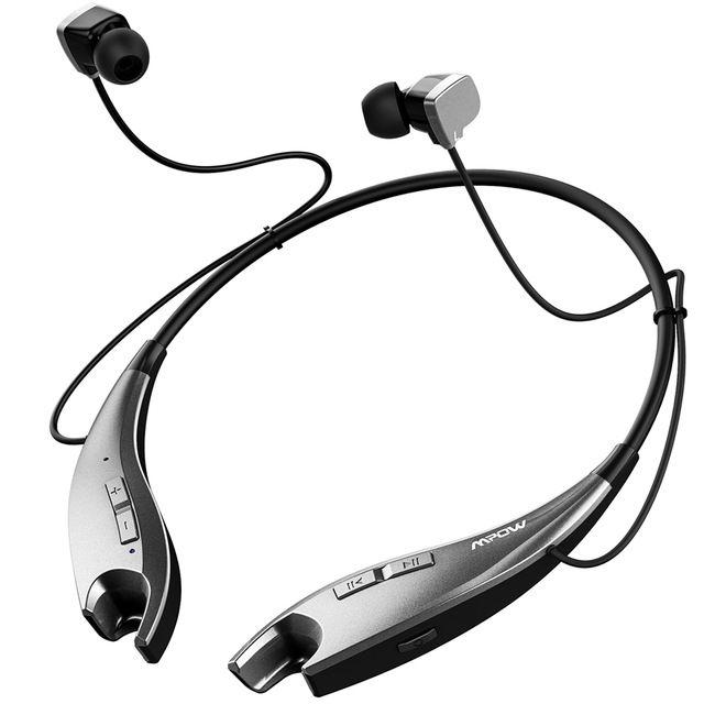 Mpow Jaws Wireless Bluetooth 4.1 Headphone Neck Halter Style Headset Earphone APTX #headset_holder #headset_stand #headset #headset_design #headset_concept #VR_Headset_Mart #Headset_Sock #Headset&Speaker #headset_package
