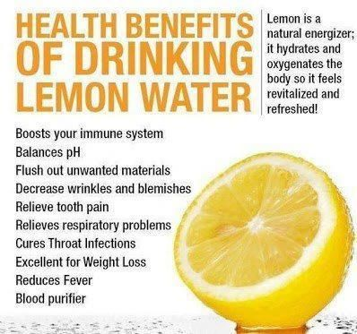 Lots of benefits from drinking lemon water. I drink it everyday! Lemon, mint and cucumber infused water is very refreshing.
