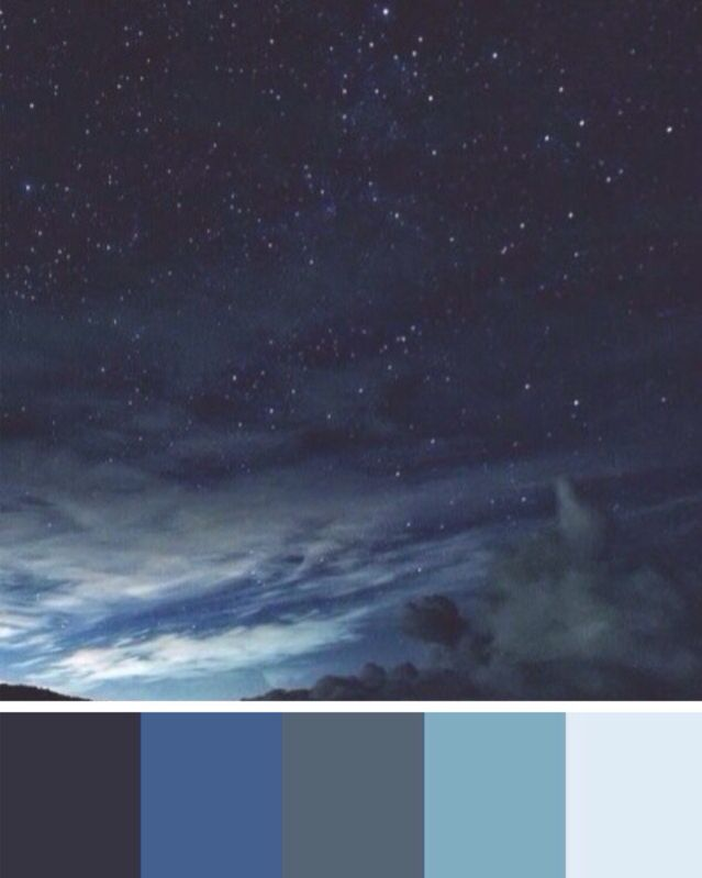 Night sky color palette