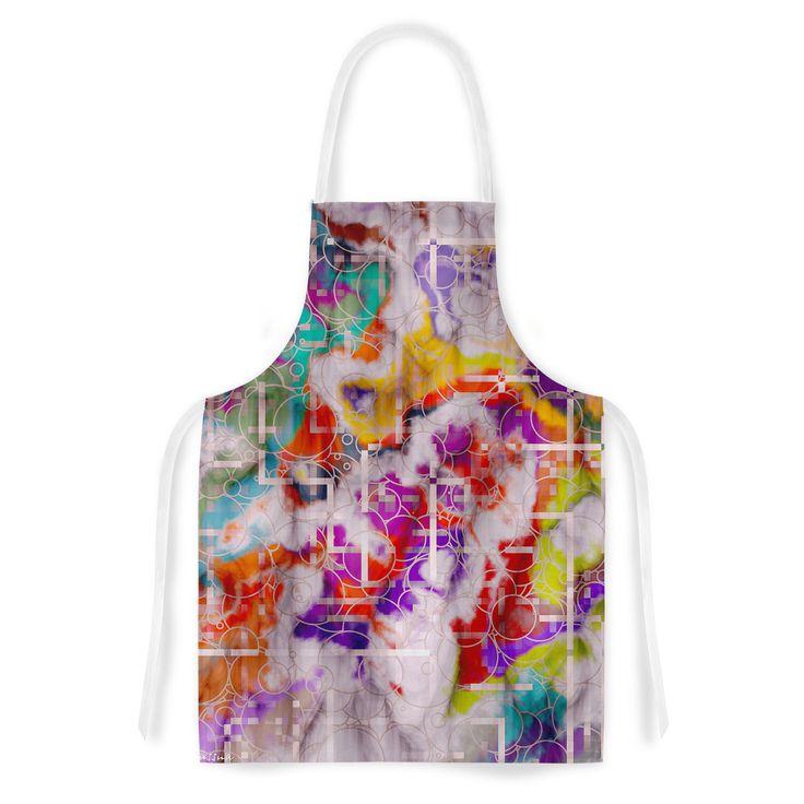 Kess InHouse Michael Sussna Quantum Foam Rainbow Geometric Artistic Apron