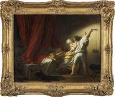 Jean-Honoré FRAGONARD (Grasse, 1732 - Paris, 1806) Le verrou Vers 1777 H. : 0,74 m. ; L. : 0,94 m. PARIS Musée du Louvre