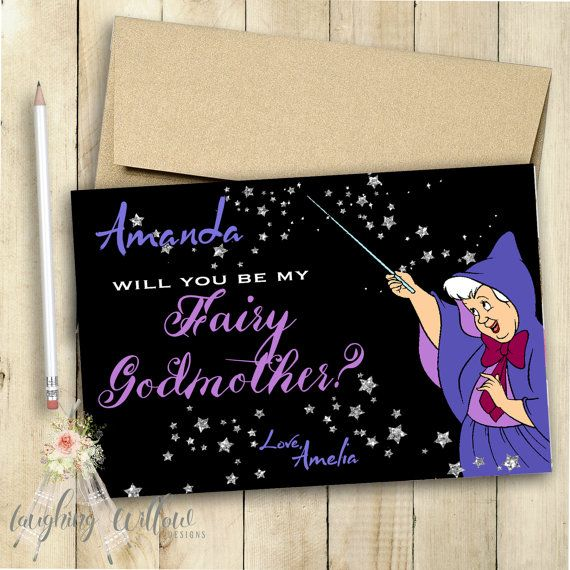 Godmother Card Fairy Godmother Card Will You Be My Godmother