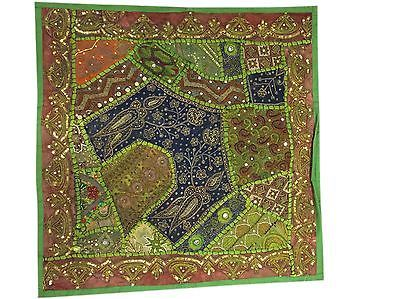 GREEN-INDIAN-EMBROIDERED-SEQUIN-PILLOW-SHAM-VINTAGE-CUSHION-COVER-HOME-DECOR    http://stores.ebay.com/mogulgallery/DECORATIVE-CUSHION-COVERS-/_i.html?_fsub=353416719&_sid=3781319&_trksid=p4634.c0.m322