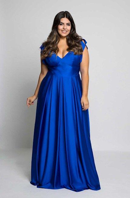 7e8ceae6e vestido longo plus size azul royal | roupa | Formal dresses, Dresses ...