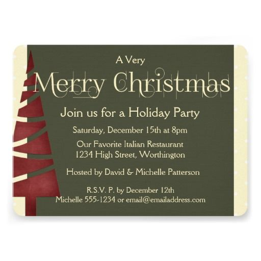 27 best invitations christmas party images on pinterest christmas holiday party invitation tree design 3 stopboris Image collections