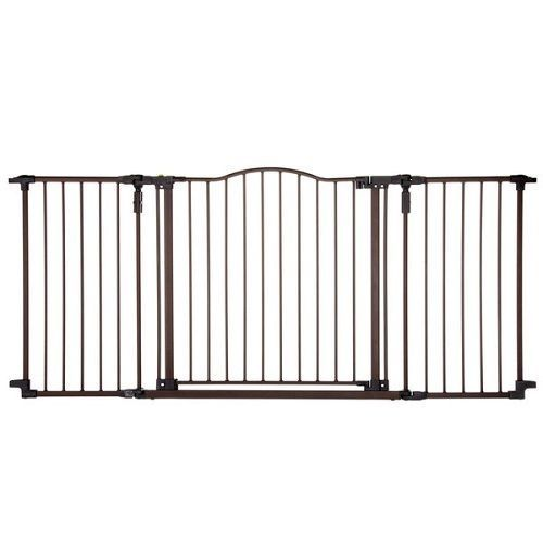 Extra Wide Dog Gate Pet Bronze Wall Mount Fence Indoor Metal Child Baby Safety #NorthStates