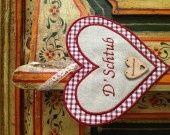 Coeur de porte , alsacien D'Schtub!! : Décorations murales par clem-102