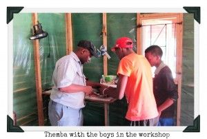 Themba with his boys making his beautiful handbags. #handmadeproducts #giftwithacause #uniquegifts #handbags #giftswithapurpose #uniquegifts #suedehandbags #suedepurses #purses #africanpride #africanheritage #Thembisa #Johannesburg