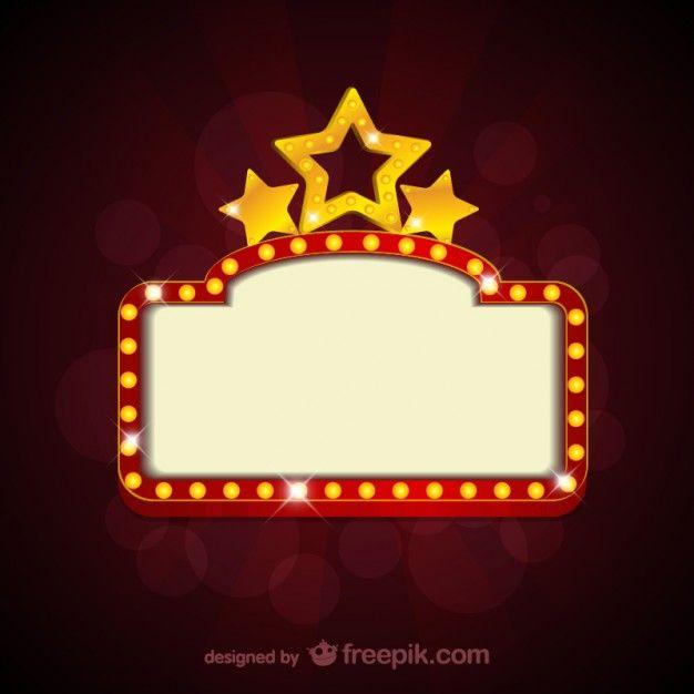 Cartel en blanco de película de cine Vector Gratis