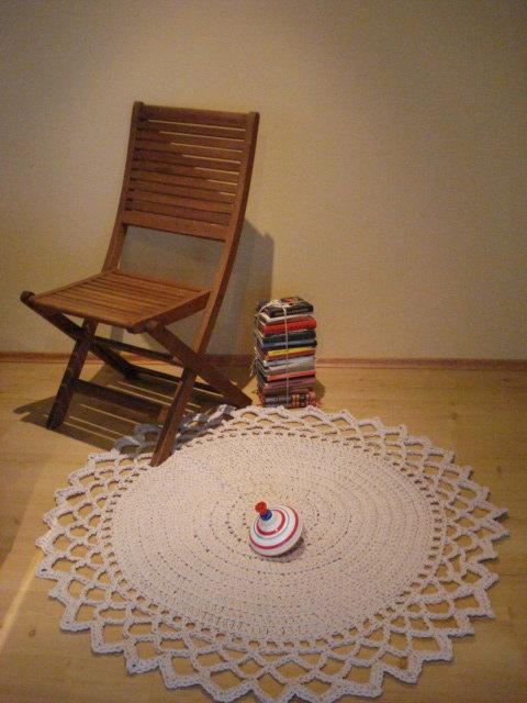Crochet Rope Giant Doily Rug 100% Cotton. $140.00, via Etsy.