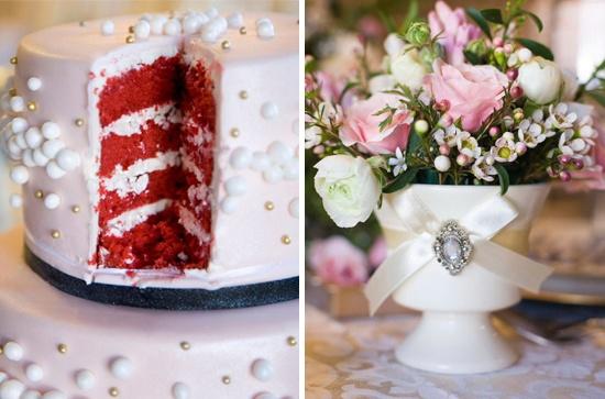Pink chic red velvet wedding cake: Cakes Inspiration, Weddings Il, Elegant Wedding Cakes Decor