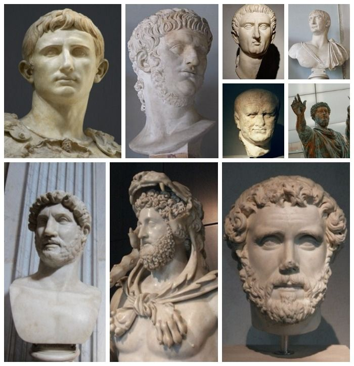 Travelling in Italy: learn to recognize the emperors by their haircut