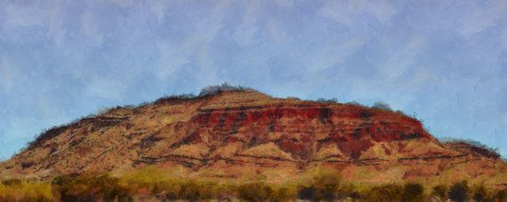 Stretched Canvas Panorama Print of Mount Bruce by ArtbyOlafur, $78.00