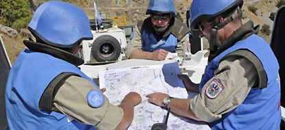 United Nations Disengagement Observer Force (UNDOF) in Syria: Supervising ceasefire and disengagement agreement.