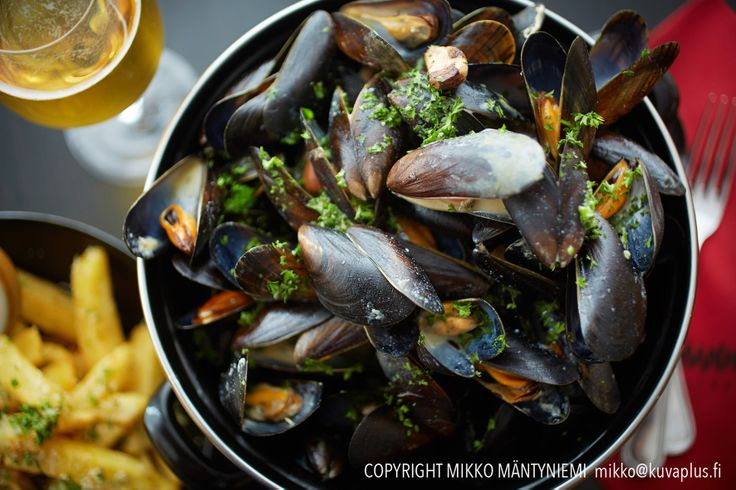 Mussels. Sinisimpukka.
