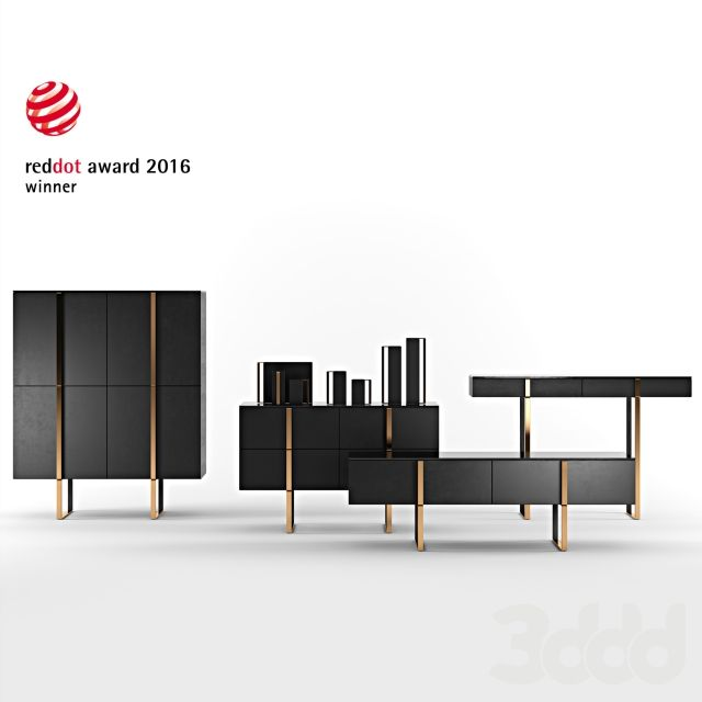 3d модели: Тумбы, комоды - Grid - Furniture & Decor Set