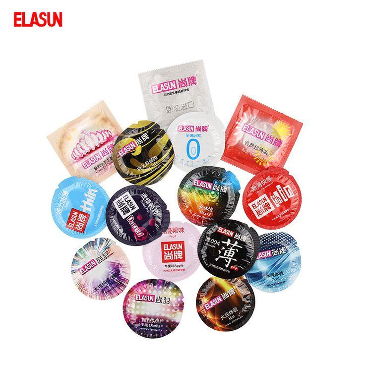 Elasun 1 pacco vari tipi di divertimento ultra sottile grande quantità di olio preservativo lubrificante stimolazione preservativi in lattice di gomma naturale