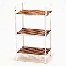 Living & Co Acacia Storage Shelf 3 Tier