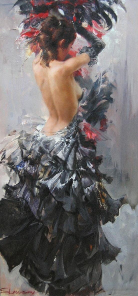 Ivan Slavinsky painting ~flamenco dance…