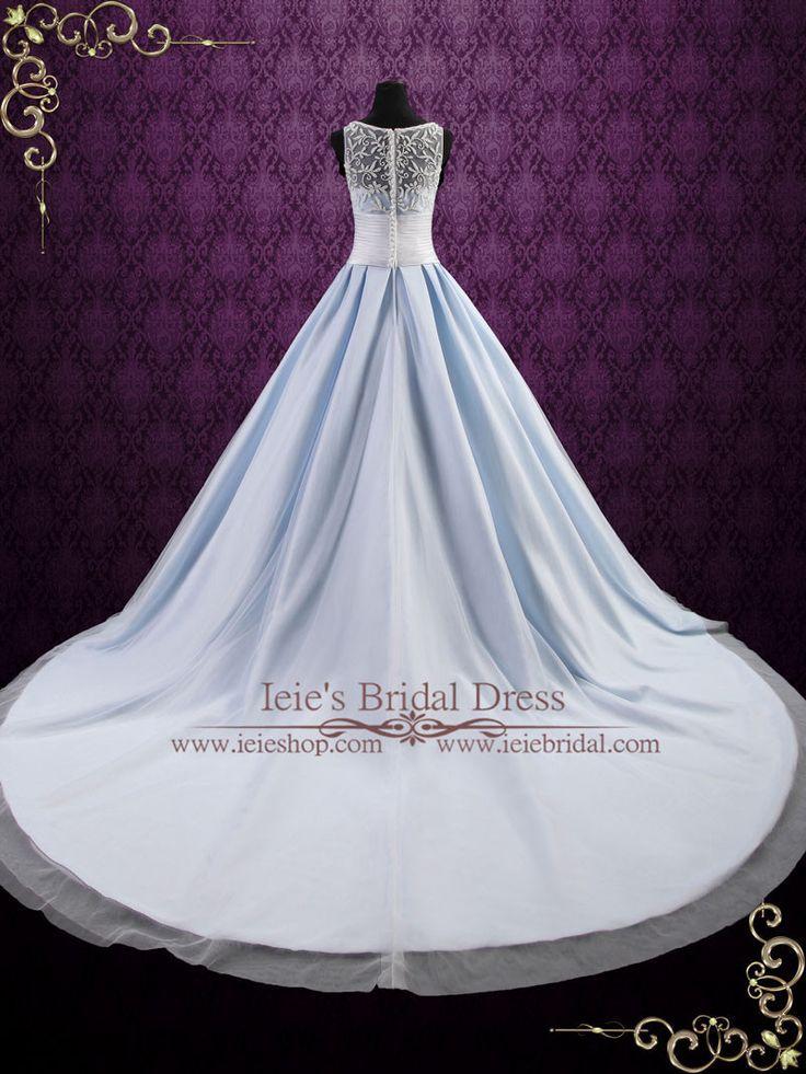 Ice Blue Ball Gown Wedding Dress Elsa Blue Wedding Gowns Blue
