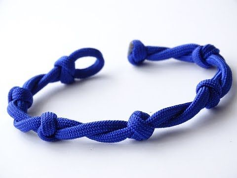 """How to Make a Twisted Cord/Snake Knot """"Beaded"""" Knot and Loop"""