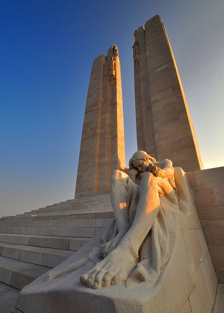 Vimy Ridge Memorial - Dedicated to the memory of Canadian Expeditionary Force members killed during the First World War.