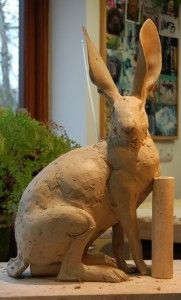 Hare Sculpture - Nick Mackman Animal Sculpture