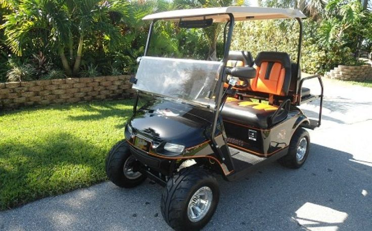 Used EZ-GO TXT Valor #golfcart For Sale. Powered by a GAS 13.5 HP 401 CC Kawasaki Street legal with factory head and taillights, turn signals, brake lights.