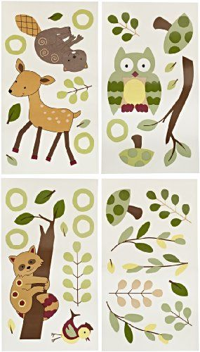 Lambs and Ivy Enchanted Forest Wall Appliques, Green Lambs & Ivy,http://smile.amazon.com/dp/B001GBMDUW/ref=cm_sw_r_pi_dp_dKwutb0EGF2P532T