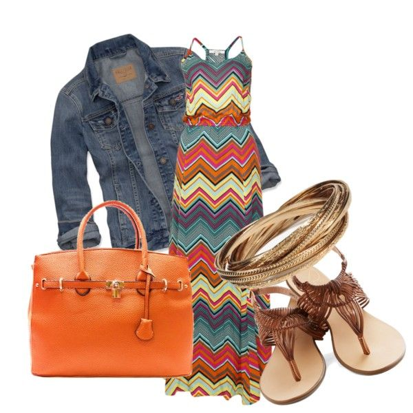 A fashion look from June 2013 featuring Ella Moss dresses, Hollister Co. jackets and Forever 21 bracelets. Browse and shop related looks.