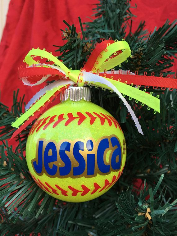 Softball Gifts, Softball Mom, Softball Player Gift, Sports Ornaments, Softball Ornament, Keepsake Ornament, Coach Gift, Softball Team Affiliate #softballmom #softballornament #etsyshop