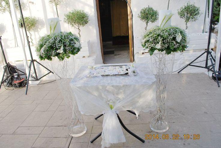 στολισμος γαμου με γυψοφυλλη,γαμος εκκλησακι αγιου κοσμα