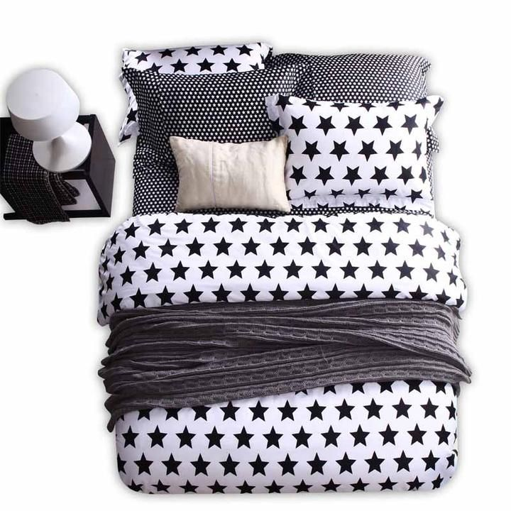 black and white collections unisex western bedding set modern beautiful bedding #871 black and white bedding