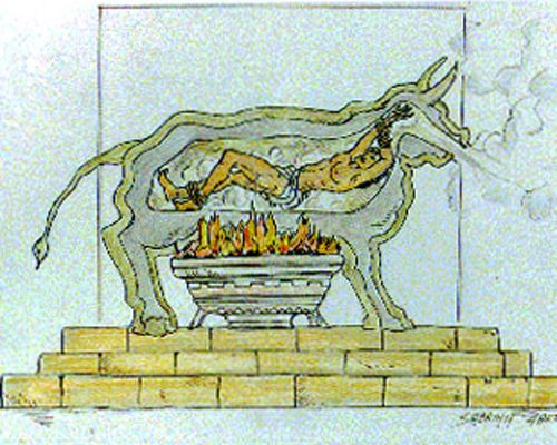 7 inventors killed by their inventions: Perillos of Athens - Inventor of the Brazen Bull