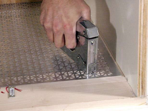 decorative aluminum sheet metal cover. This instead of cutting a million holes for baseboard heater