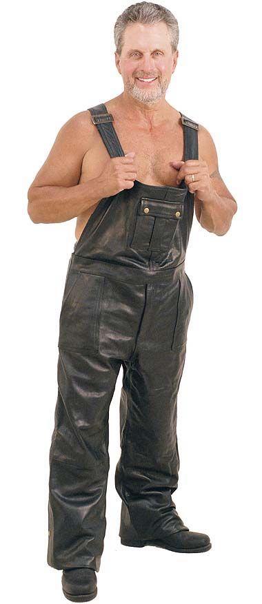 Leather Bib Overalls Men S Leather Pants Pinterest