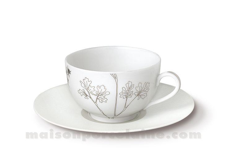 TASSE THE+SOUCOUPE LIMOGES ENVIE 24CL - Maison de la Porcelaine
