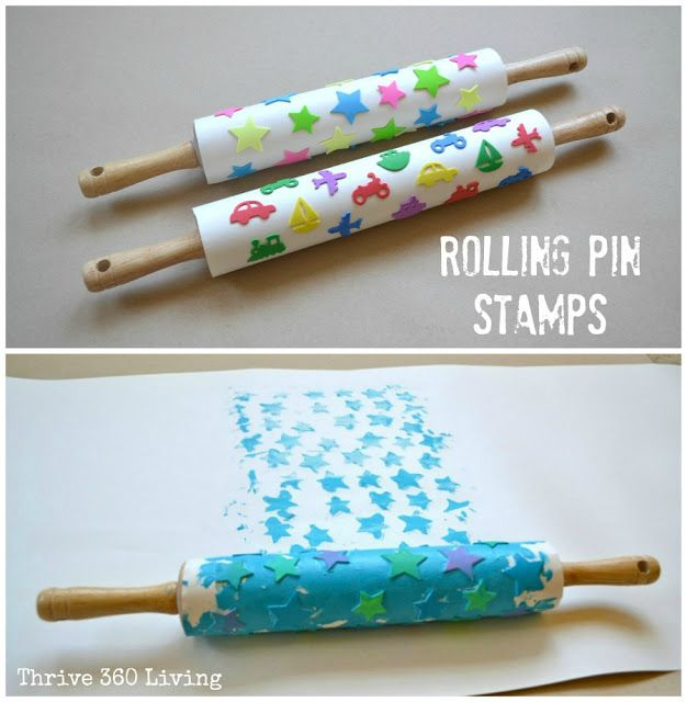 So simple DIY rolling pin stamps using foam stickers ( we have heaps of those!). Can't wait to try this.