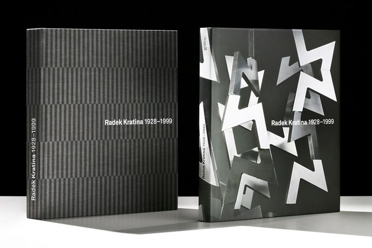 Monography Radek Kratina - Graphic design Dynamo design, photo of printed realization by w:u studio