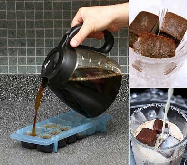 Kahveyi dondurup süte atın