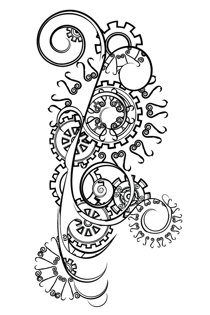 Tattoo designs coloring book - Cool Bike Gear Design For Pyrographing It To The Next Piece Of Furniture What Will
