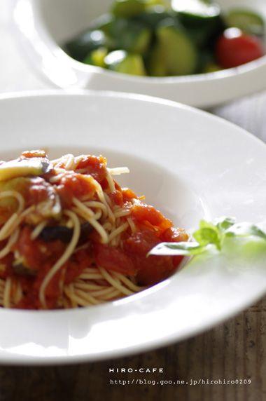 茄子とトマトの冷製パスタ☆ | 美肌レシピ