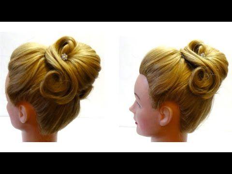 Красивая прическа своими руками. Beautiful hairstyle - YouTube