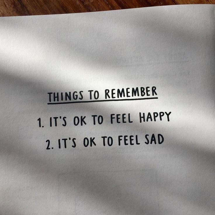 Coisas para lembrar: 1. É OK sentir-se feliz 2. É OK sentir-se triste  (arte: @leecrutchley)