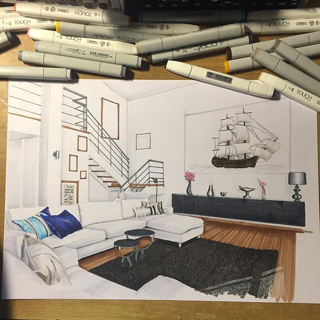 roxje - Interior Design Sketches