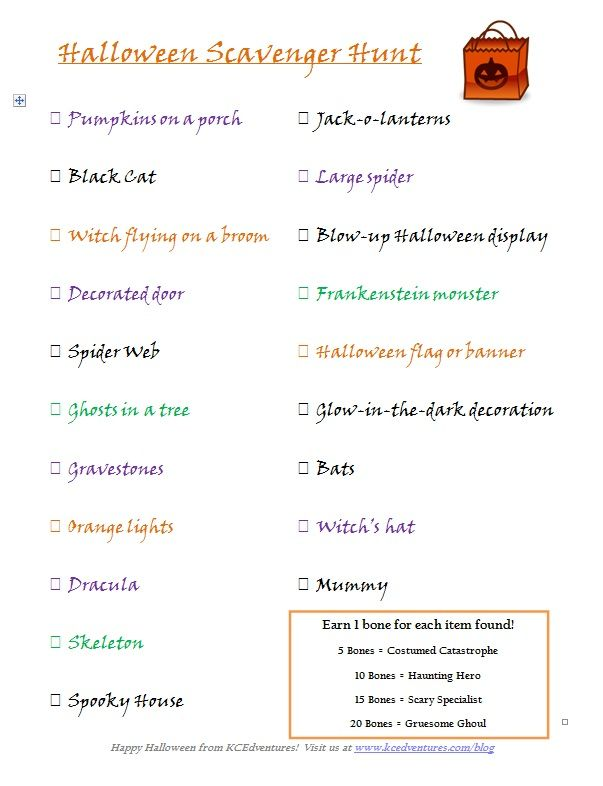 {Halloween Scavenger Hunt} free printable to take along as you scout out Halloween decorations in your neighborhood!